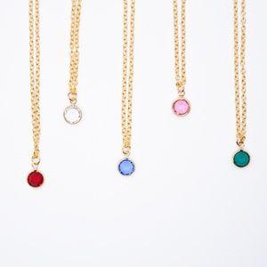 Minimalist Crystal Drop 18 inch Necklace